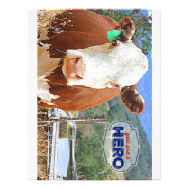 You are a Hero! Cow Letterhead