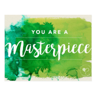 You Are a Masterpiece Encouragement Postcard