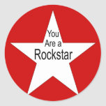 You are a Rockstar Classic Round Sticker