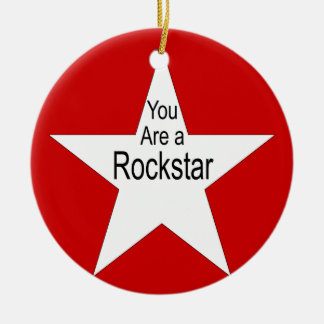 You are a rockstar Double-Sided ceramic round christmas ornament