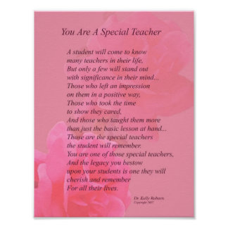 You Are A Special Teacher Poster