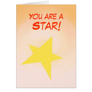 You are a Star, Congratulations Card customize