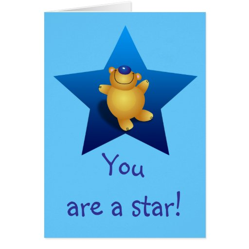 You are a star! greeting card