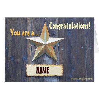 You are a Star - Note Card