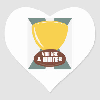 You Are A Winner Heart Sticker