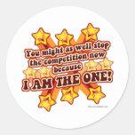 You are a winner! round sticker