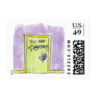 You are aDOORable cartoon Postage