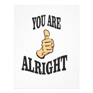 you are alright fun letterhead