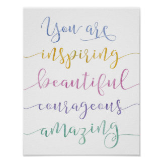 You Are Amazing Art Print