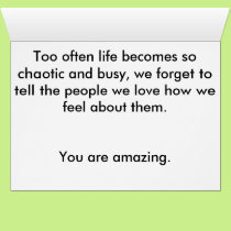 You are amazing. card