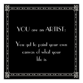 You are an artist poster