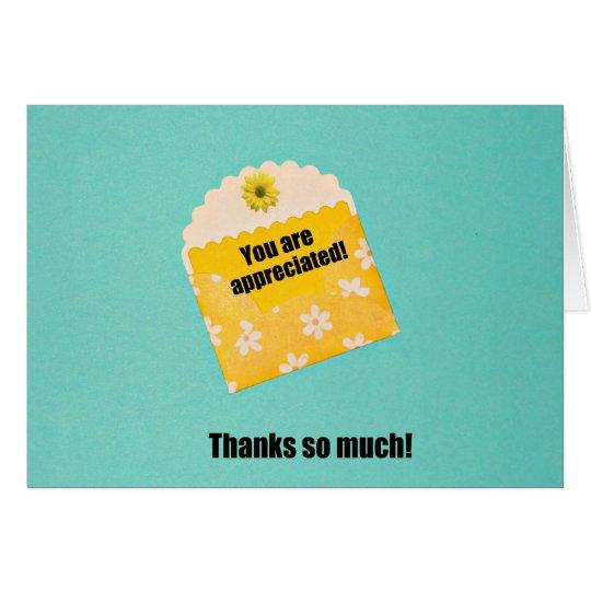 You are appreciated! card