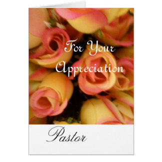 You Are Appreciated Pastor Card
