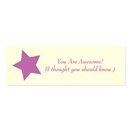 You Are Awesome Business Card