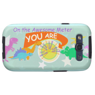 You Are Awesome Meter Cute Dinosaurs Samsung Galaxy SIII Cover