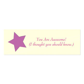 You Are Awesome! Mini Business Card