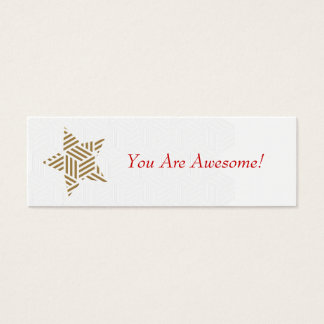 You Are Awesome! (Weave Gold Star) Mini Business Card