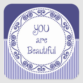 You are Beautiful Blue Stickers