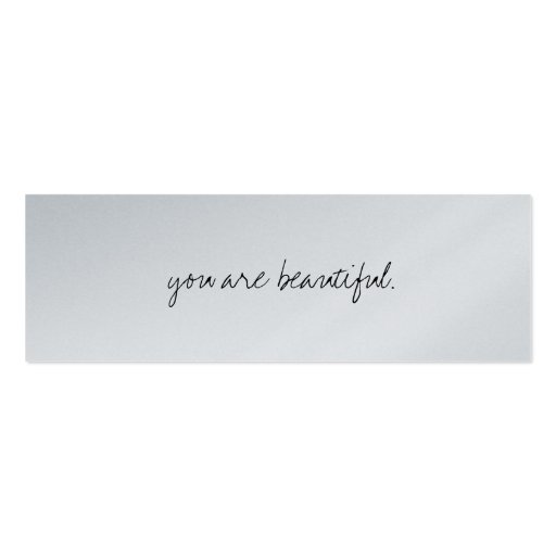 you are beautiful Double Sided mini business cards Pack