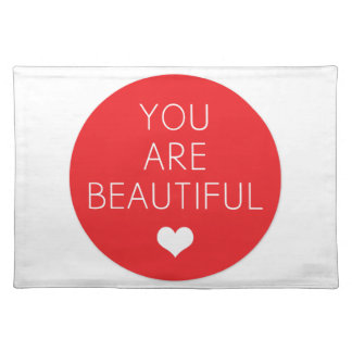 You are beautiful but (Red) Cloth Placemat