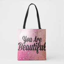 You are Beautiful Custom All-Over-Print Tote Bag