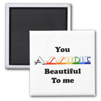 you are beautiful funny lol magnet