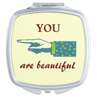 YOU are Beautiful Makeup Mirror