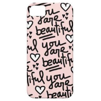 You Are Beautiful Peach iPhone SE/5/5s Case