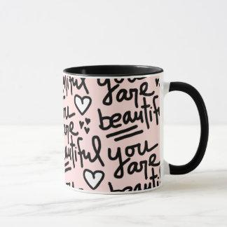 You Are Beautiful Peach Mug