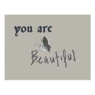 You Are Beautiful Postcard