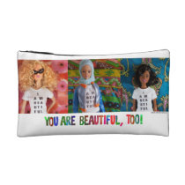 You are beautiful, too! (cosmetic pouch, style 1) makeup bag