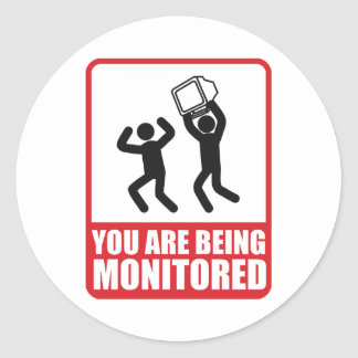 You Are Being Monitored Classic Round Sticker