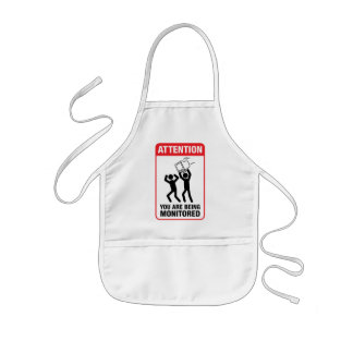 You Are Being Monitored - Office Humor Kids' Apron
