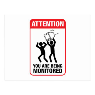 You Are Being Monitored - Office Humor Postcard