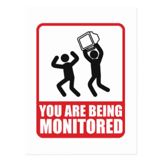 You Are Being Monitored Postcard