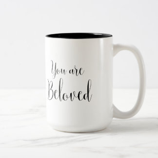 You are Beloved, Inspiring Message Two-Tone Coffee Mug