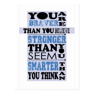 You are Braver Than You Believe Gift Post Card