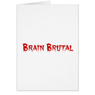You are brutal to my brain like a migraine card