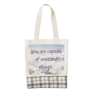 You Are Capable of Amazing Things Zazzle HEART Tote Bag