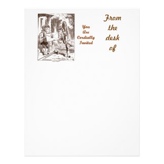 You Are Cordially Invited Frog Fish Footmen Letterhead
