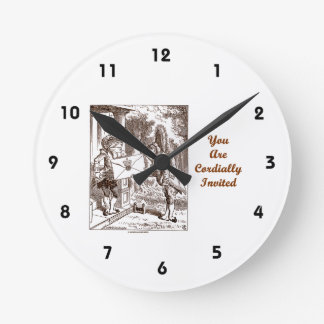 You Are Cordially Invited Frog Fish Footmen Round Clock