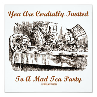 You Are Cordially Invited To A Mad Tea Party Card