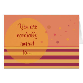 You are cordially invited to... card
