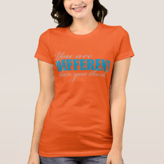 You are Different blue on racerback (w) T-Shirt