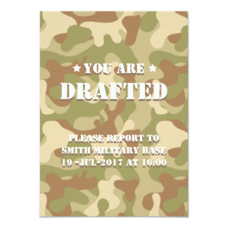 You Are Drafted! B-Day Celebration. Camo Your Card