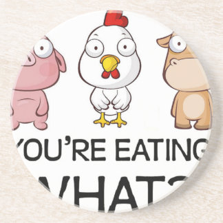 You Are Eating What?! - You Eat What?! - Animals Drink Coaster