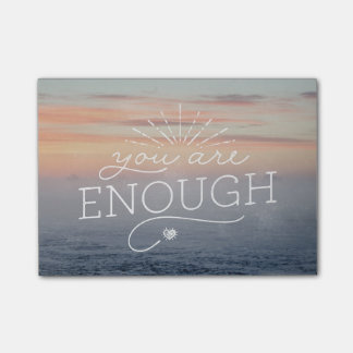 You are enough lettered quote post-it® notes