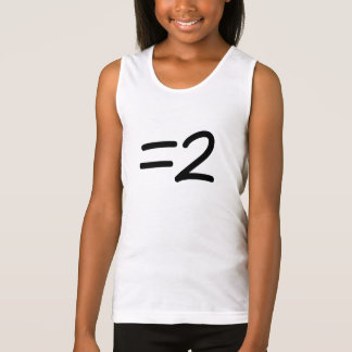 You are equal to anyone tank top