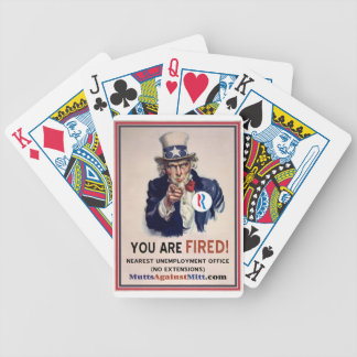 You Are Fired! So ante up Bicycle Playing Cards