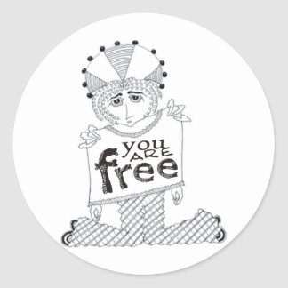 You Are Free Classic Round Sticker
